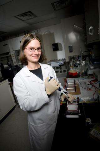 Claudia Gunsch (CEE) is leading a project in the SRC to study how they can limit exposure and potentially clean up PAHs.
