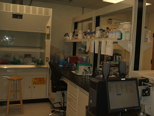Bench space in second lab